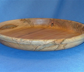 "15"" Ambrosia Maple platter"